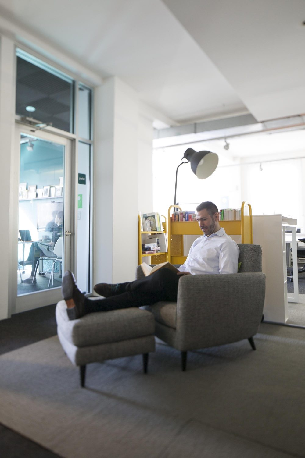 Individuals can sit and study material away from their desks without disturbing other workers