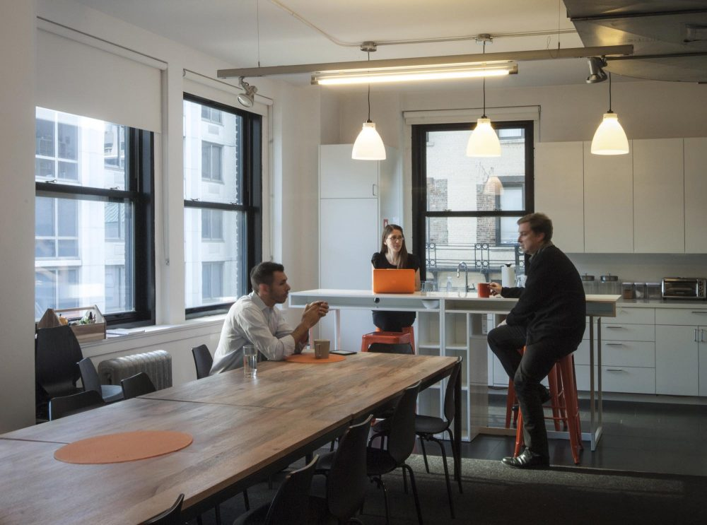 The Kitchen acts as a social hub for the office, offering team member a place to socialize away from the work environment