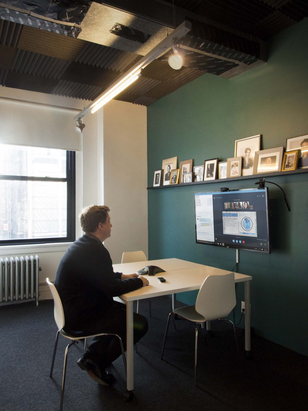 The Parlor enables teleconferencing capabilities without excess noise from the office